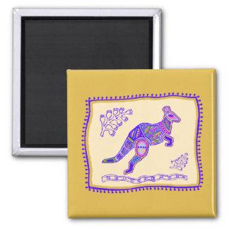 Kangaroo Quilt Magnet
