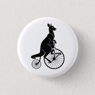 Kangaroo Riding a Penny Farthing 3 Cm Round Badge