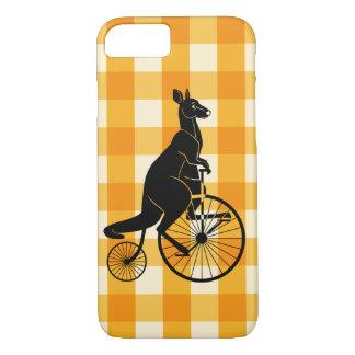 Kangaroo Riding a Penny Farthing Bike iPhone 8/7 Case