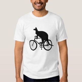 Kangaroo riding bicycle t shirts
