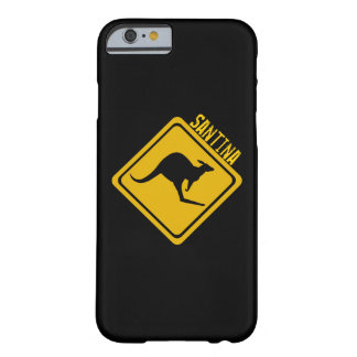 kangaroo road sign barely there iPhone 6 case
