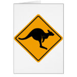 Kangaroo Road Sign Greeting Card