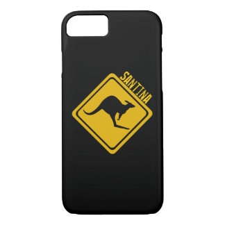 kangaroo road sign iPhone 7 case