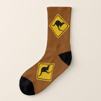 kangaroo road sign - socks 1