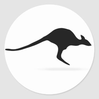 Kangaroo Round Sticker