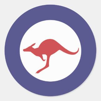 Kangaroo Roundel Classic Round Sticker