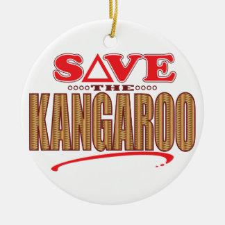 Kangaroo Save Christmas Ornament