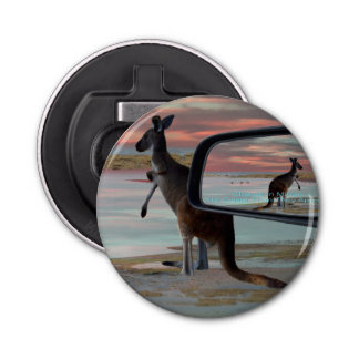 Kangaroo Seaside Breezes Illusion Art, Bottle Opener