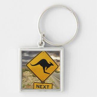 Kangaroo sign, Australia Key Ring