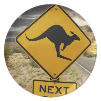 Kangaroo sign, Australia Plate