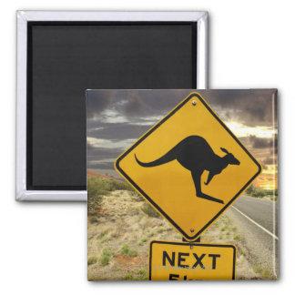 Kangaroo sign, Australia Square Magnet