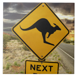 Kangaroo sign, Australia Tile