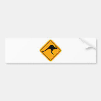 Kangaroo Sign Bumper Sticker