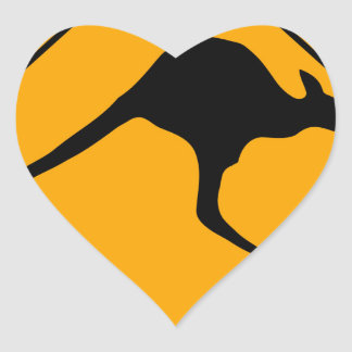Kangaroo Sign Heart Sticker