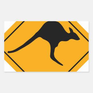 Kangaroo Sign Rectangular Sticker