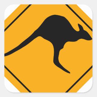 Kangaroo Sign Square Sticker