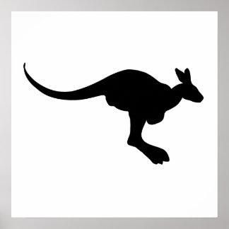 Kangaroo Silhouette Poster