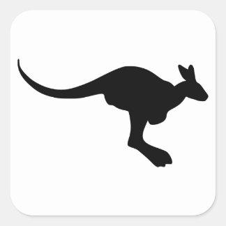 Kangaroo Silhouette Square Sticker
