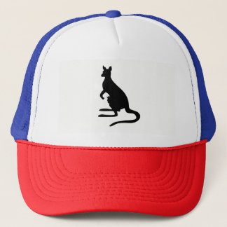 Kangaroo Silhouette Trucker Hat