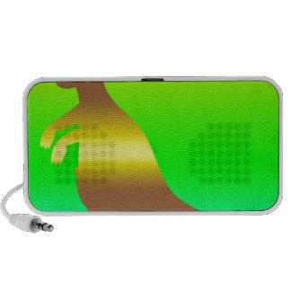 Kangaroo Silhoutte fresh yellow and green Speakers