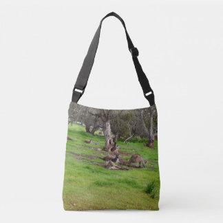 Kangaroo Slumber Party, Full Print Cross Body Bag. Crossbody Bag