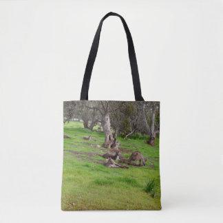 Kangaroo Slumber Party, Full Print Shopping Bag. Tote Bag