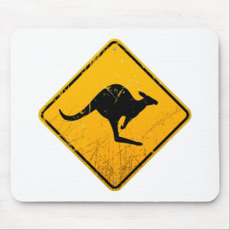 Kangaroo Vintage Sign Mouse Pad