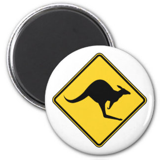 kangaroo warning danger in australia day magnet