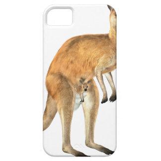 Kangaroo with Baby Joey iPhone 5 Cases