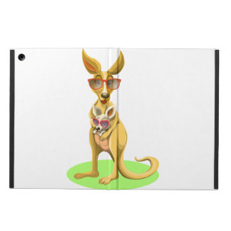 Kangaroo with glasses iPad air covers