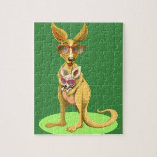 Kangaroo with glasses jigsaw puzzle