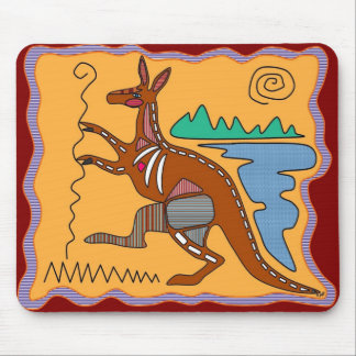 Kangaroo X-ray Art Mouse Pad