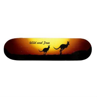 Kangaroos from Australia - Wild and Free Custom Skate Board
