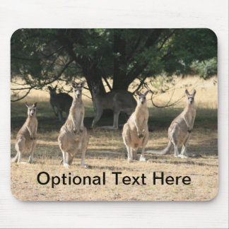 Kangaroos in a Row Mouse Pad