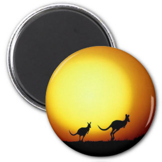 Kangaroos in the Australian Outback Magnet