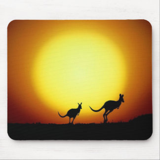 Kangaroos in the Australian Outback Mouse Mat