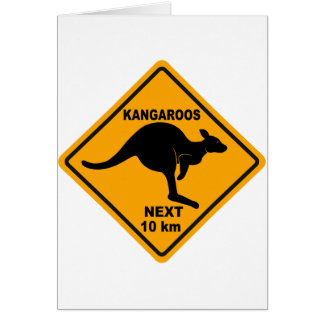 Kangaroos Next 10 km Card