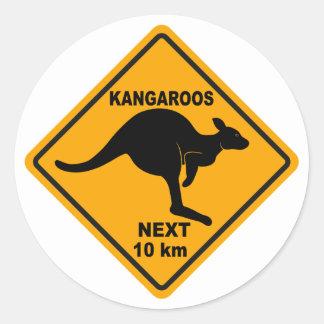 Kangaroos Next 10 km Classic Round Sticker