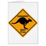 Kangaroos Next 10 km Greeting Card