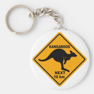 Kangaroos Next 10 km Key Ring