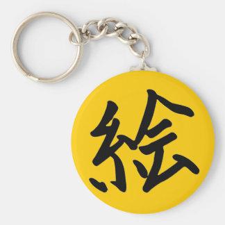 Kanji Character for Art Monogram Key Chains