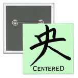 Kanji Character for Centred Monogram Pinback Buttons