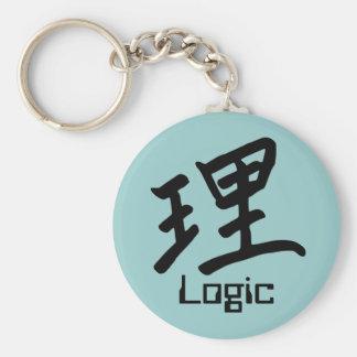 Kanji Character for Logic Monogram Basic Round Button Key Ring