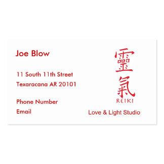 Kanji Character for REIKI Pack Of Standard Business Cards