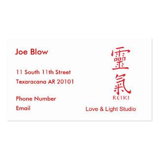 Kanji Character for REIKI Business Card Template