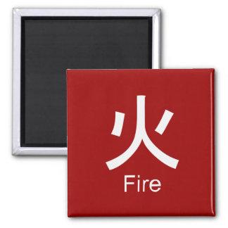Kanji for fire T-shirt Fridge Magnets