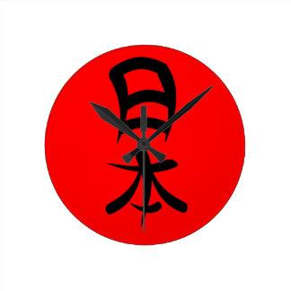 Kanji for Japan Round Clock