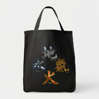 Kanji: Four Elements - Grocery Tote #2