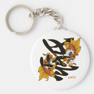 Kanji Koi Fish Love Basic Round Button Key Ring