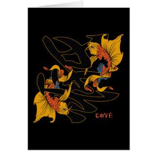 Kanji Koi Fish Love Card